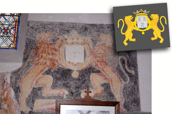 Fresque des Lions de l`église de St-Barthélemy
