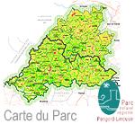 Carte du Parc Régional du Périgord Limousin