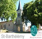 Village de Saint-Barthélemy-de-Bussière en Dordogne